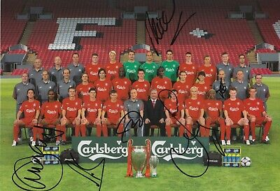 Liverpool Hand Signed 12x8 Photo - Football Autograph 2005 / 2006.