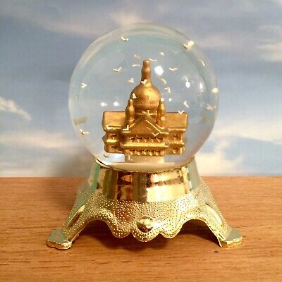 St. Paul's Cathedral London Snow Water Globe Snowglobe with Floating Birds NEW