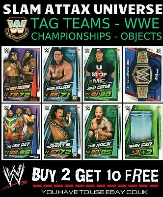 Wwe Slam Attax Universe Tag Teams Legends Championships Object Buy 2 Get 10 Free