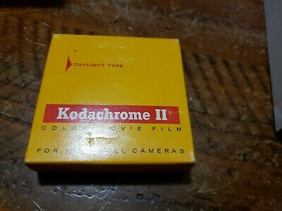 Vintage Kodachrome II Color Movie Film Sealed in package 16mm roll camera ex1970