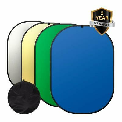 Green /Blue 4 In 1 Background Panel Reversible Collapsible Screen Popup Backdrop