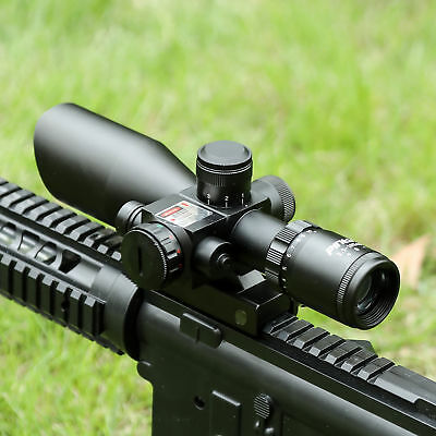 2.5-10x40EG Tactical Rifle Scope Mil-dot Dual illuminated Red Laser w/ Mount New
