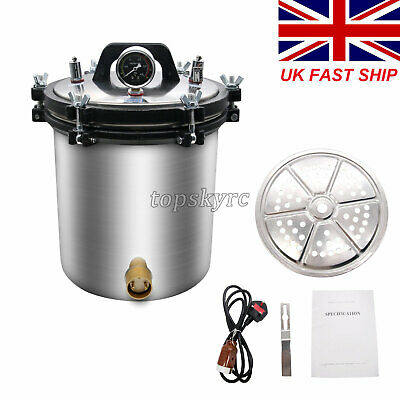 22L Pressure Steam Sterilizer Autoclave (Inner Container 18L) Hospital Health UK