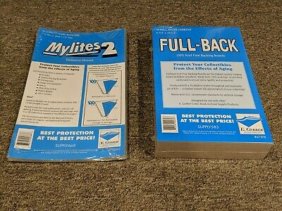 50 E. Gerber Mylites2 Mylars Bags & Full Back Comic Boards Current 700M2/675FB