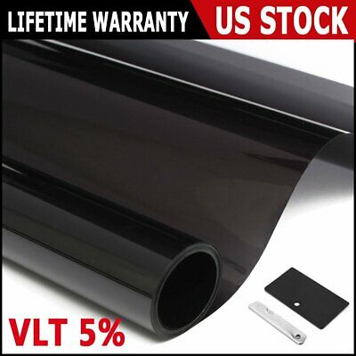 """Uncut Roll Window Tint Limo Black Film 20"""" Inches x 20'Feet Car Home Office"""