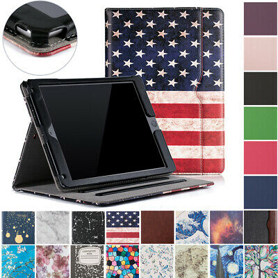 For Apple iPad 6th Gen 9.7 inch 2017 2018 Air Folio Case Cover Stand with Pocket