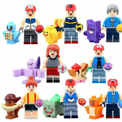 16Pcs Pokemon Go Set POKEMON Mini Figures PIKACHU Building Blocks Toys Kids Gift