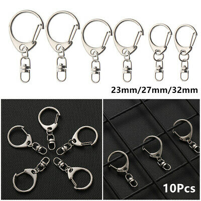 Lobster Clasp Key Chain Ring Split Ring  Metal Swivel Trigger Snap Hook