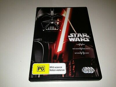 STAR WARS Original Trilogy IV, V & VI (3 Disc DVD) - Region 4