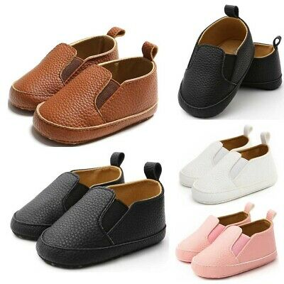 UK NEW Baby Boys Girls Shoes Fashion Leather Shoes Toddler Pre-Walkers Kid Shoes