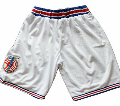 Space Jam Tune Squad Movie Basketball Jersey Shorts Stitched White