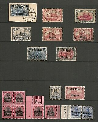 German Colonies Small Collection Used and Mint Never Hinged BARGAIN!