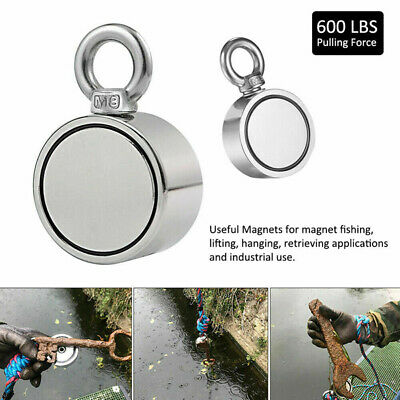 Double Sided Super Strong Neodymium Fishing Magnet 600LB Pulling Force