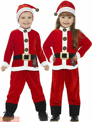 Childs Toddler Santa Claus Costume Boys Father Christmas Fancy Dress Xmas Outfit
