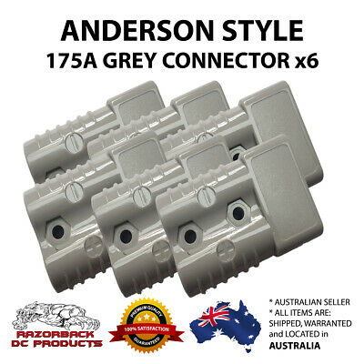 6x 175amp Anderson Style Plug  600VDC Up to 2 B&S Winch Solar Caravan RV 175A