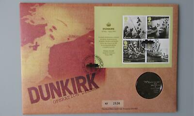 2010 Royal Mail / Royal Mint - Dunkirk - Medallic Coin Cover