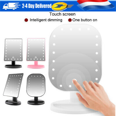 Rectangle DEL Maquillage Miroir Grossissant | 180 ° Rotation | Grossissement 10X