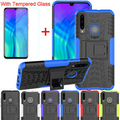 Hybrid Shockproof Cover Hard Armor Case For Huawei Honor 20 10 Lite Pro + Glass