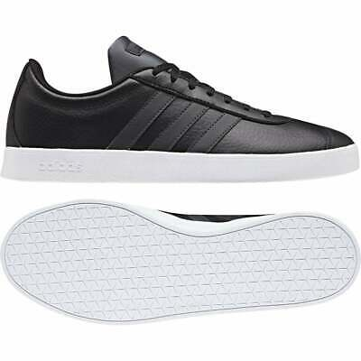 SHOE ADIDAS F36387 BABY BOY VL COURT 2.0 BLACK WITH RIPS