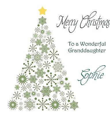 Handmade Personalised Christmas Tree Card - Son,Daughter,Granddaughter,Brother..