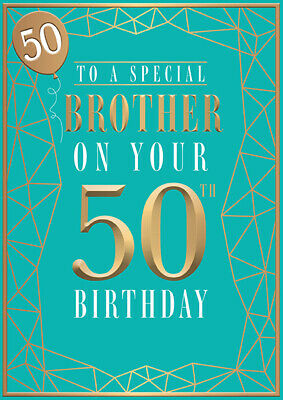 50th Birthday Card for Brother With lovely Verse