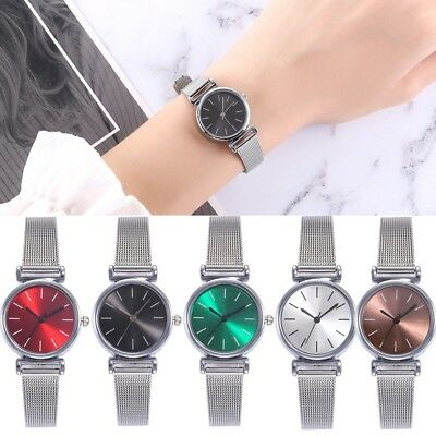 Women Fashion Stainless Steel Band  Watch Quartz Analog Casual Wrist Watch CA