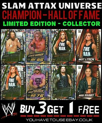 Wwe Slam Attax Universe Limited Edition Champion Cards Hall Of Fame Collector