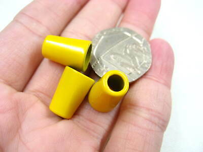 50pcs yellow metal cord end Toggles Clothing Draw String Pull bag cord Ends