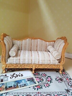 Dolls House Emporium 1/12th scale Gold and Silver Louis XV Sofa  9266