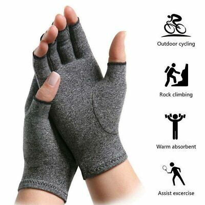 Arthritis Compression Gloves Hand Joint Pain Relief Wrist Support Fingerless AU