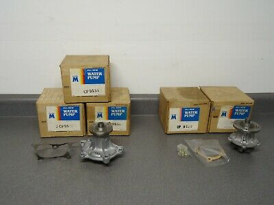 Lot (5) New Master Water Pump CP9134 CP9136 1970's Toyota Import Made In Japan