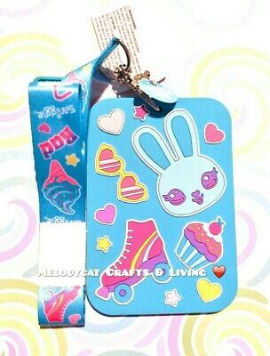 Smiggle Scented Silicone Id Card Pass Holder With Lanyard, Stylin  🐇💦Bunny