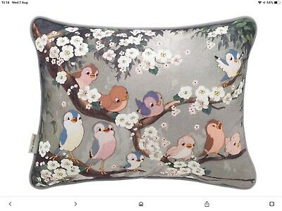 Cath Kidston Snow Whites Singing Birds Cushion - Brand New With Tags