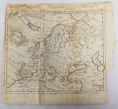 xing Antique Early 17th Century Style Map of Europe English London Unsigned