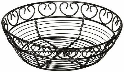 "Winco WBKG-8R Bread/Fruit Basket, Black Wire, 8"" Round 1 PC"