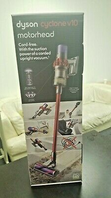 Dyson v10 Motorhead Cyclone Red Cordless Stick Vacuum Cleaner