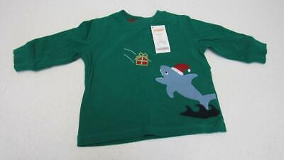 GYMBOREE LOCH NESS HEROES HOLIDAY SHARK L//S TEE 12 18 24 2T 3T NWT