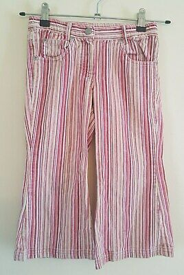 Ref 503 - TIGERLILY - Girls Toddlers Bright Pink Striped Trousers Age 4 Years