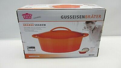 GSW Gusseisen Bräter oval 33 x 25 cm - 7,0 Liter ORANGE SHADOW