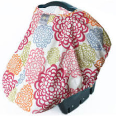 Itzy Ritzy Peek-A-Boo Pod Infant Carrier Pod Universal Car Seat Cover Floral NEW