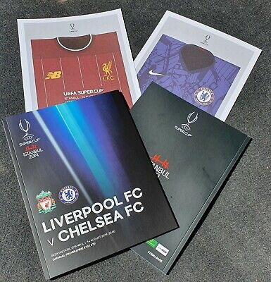 Super Cup 2019 Liverpool vs Chelsea Official Programme with free POSTER!!!