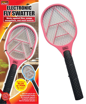 Electric Fly Swatter Racket Bug Zapper Bat Fly Mosquito Wasp Insect Killer Trap