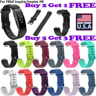 US SHIP Silicone Watch Band Wrist Strap Bracelet For Fitbit Inspire/Inspire HR 0