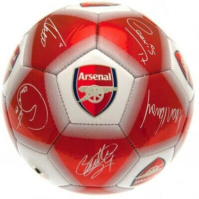 Arsenal AFC Football Size 5 Signature Red Gunners Gift Practice Ball
