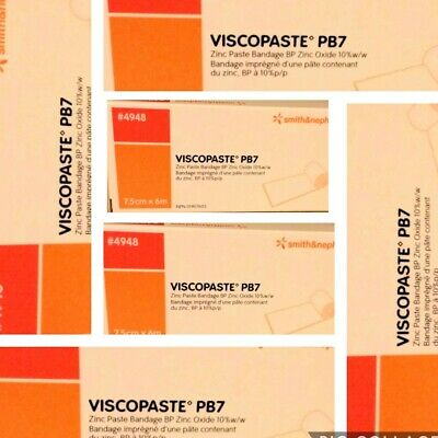 VISCOPASTE PB7 ZINC PASTE BANDAGE ( 6  pack ) NEW