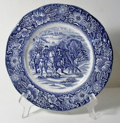 """Staffordshire LIBERTY BLUE 8-3/4"""" Luncheon Plate(s) MINT"""