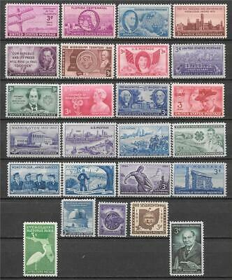 T&G STAMPS - 3 Cent US Postage Collection - 25 Vintage Stamps 70-90 Yrs Old D