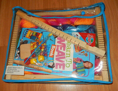 Learn To Weave For Kids Book & Loom Kit from Shure/HighLights - NEW