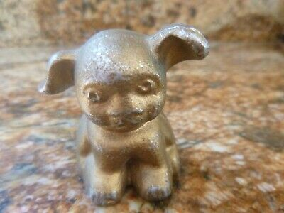 Antique 1917 Hines Pup Aluminum Collectible Paper Weight By Hubley for Griswold