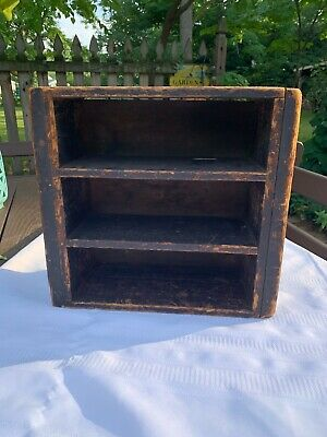 Antique 1800  Maine Diminutive Cupboard Shelf Box in original Attic Dry Surface